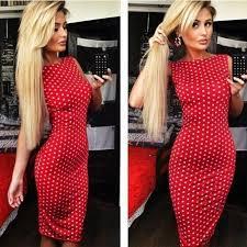 tight dress 2017 wishcart 2016 dot drain back dress tight dress