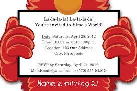 Birthday Invitations Card Elmo Birthday Invitations Printable Free Invitations Ideas