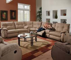 Small Leather Sectional Sofas Living Room Modern Leather Sectional Sofa With Recliners