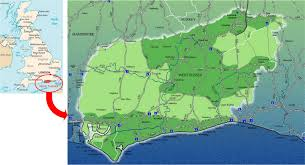 England County Map by International Study Of Re Regions West Sussex County Council England
