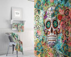 Sugar Skull Bathroom Abstract Skull Etsy