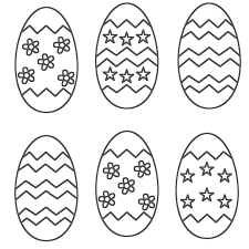 easter egg outline coloring free download