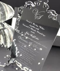 Silver Wedding Invitation Cards 71 Best Acrylic Wedding Invites Images On Pinterest Laser
