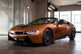 modified bmw i8 2018 bmw i8 roadster e copper metallic front quarter autobics