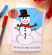 funny christmas card set funny holiday card set family