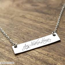 Jewelry With Names Name On Jewelry Pictures