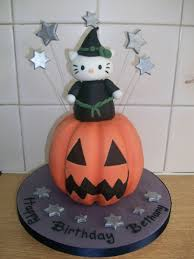 Halloween Pumpkin Cake Ideas Hello Kitty Halloween Cake Cakecentral Com