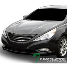 2011 hyundai sonata front bumper amazon com 2010 2012 hyundai sonata front grille black automotive