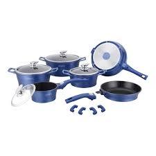 batterie cuisine professionnelle batterie de cuisine professionnelle bleue 14 pièces fonte aluminium