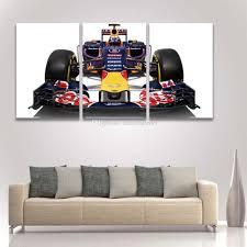 2017 3 panel canvas art prints formula race car painting modular