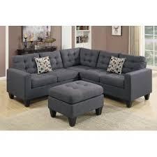 Section Sofa Gray Sectional You Ll Wayfair