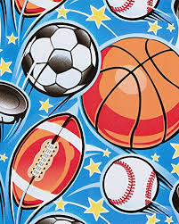 sports wrapping paper american greetings wrapping paper sports balls 2 5 x 3