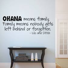 ohana means family lilo and stitch vinyl wall quote decal home decor