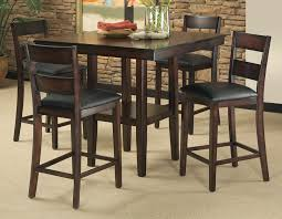 high table with four chairs padded barstools pub style bar height dining table decorating