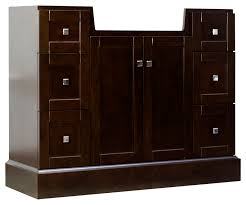 40 in w floor mount walnut vanity set for 3h8 in drilling img