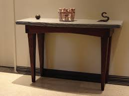 furniture brown wooden table for entry way furniture with grey