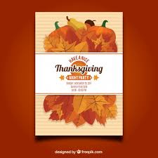 thanksgiving flyer template vector free