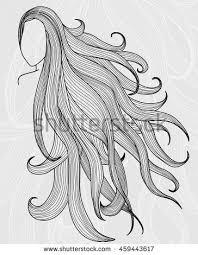 woman face long hair stock vector 90469618 shutterstock