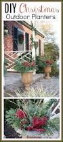 diy christmas outdoor planters sweet pea