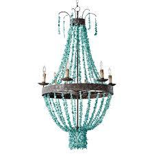 turquoise chandelier pensacola coastal beaded turquoise metal chandelier kathy