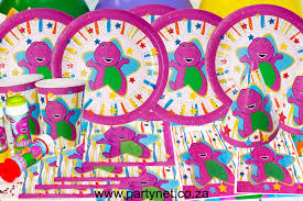 Parties Girls Birthday Themes Barney Party Supplies DMA Homes
