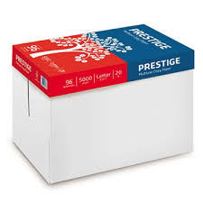 paper ream box prestige multi use copy paper 20lb 96 bright 10 ream
