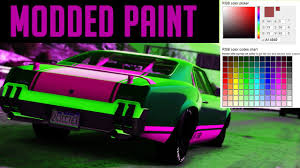 gta 5 how to get modded paint jobs u0026 best paint jobs in gta 5