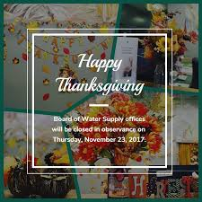 thanksgiving honolulu thanksgiving board of water supply
