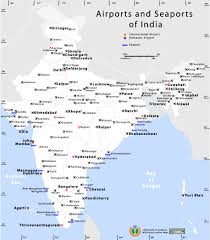 Blank Map Of India by India Airports Seaports Map Maps Of India