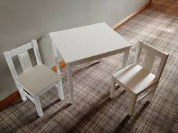 Ikea Kids Table White Childs Kids Table And Chairs Set Ikea Kritter Range White