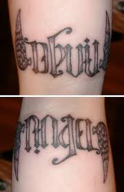 ambigram tattoos