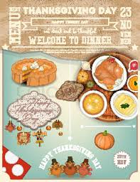 thanksgiving dinner menu card roast turkey thanksgiving day and