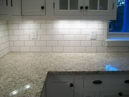 red and white kitchen tiles shaker style cabinet doors dark