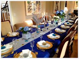 blue and silver decorating blue and gold party decorations