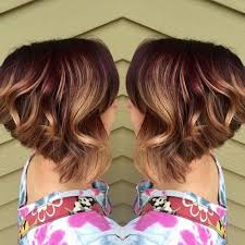 angled bob for curly hair 50 hottest balayage hairstyles for short hair balayage hair