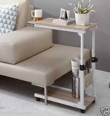 Laptop Sofa Desk Height Adjustable Bedside Caster Table Diy Multi Use Extendable