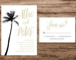 palm tree wedding invitations tropical leaves wedding invitation tropical palm leaves