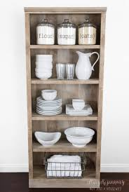 Kitchen Hutch Ideas Use A Bookshelf As A Pantry Or Kitchen Hutch Humble Abode