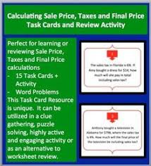 discounts taxes and tips scavenger hunt scavenger hunts
