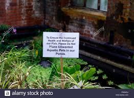 Botanic Garden Belfast by Do Not Dump Unwanted Pet Sign Pond Aquatic Botanic Gardens Belfast