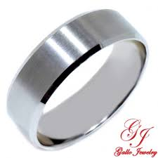 plain white gold wedding band pwb002 14kt white gold unisex 700mm plain wedding band