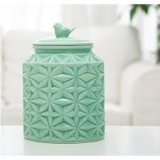 ceramic kitchen canisters large turquoise glossy ceramic cookie jar kitchen canister
