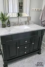 Black Painted Bathroom Cabinets Bathroom Vanity Makeover U2013 Easy Diy Home Paint Project Paint