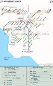 Metrolink Los Angeles Map by La Metro Rail Map Map Metro Rail