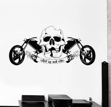 vinyl wall decal cool skull motorcycle speed biker driver garage vinyl wall decal cool skull motorcycle speed biker driver garage cruiser sticker 658ig