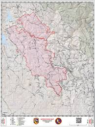 Cal Map Daily Operations Map For Detwiler Wildfire In Mariposa County For