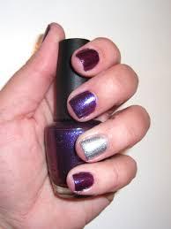 opi grape set match with a servin u0027 up sparkle accent nail