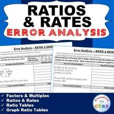 ratios and rates word problems error analysis find the error