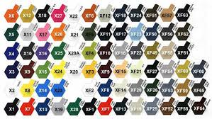 color reference charts tamiya color map