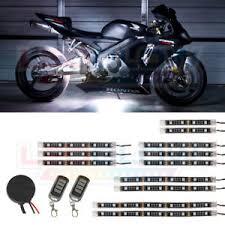 white led motorcycle light kit ledglow 12pc white smd led flexible led strip kit motorcycle lights